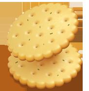 Cracker tondo mediterraneo